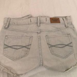 Abercrombie Grey cutoff denim shorts